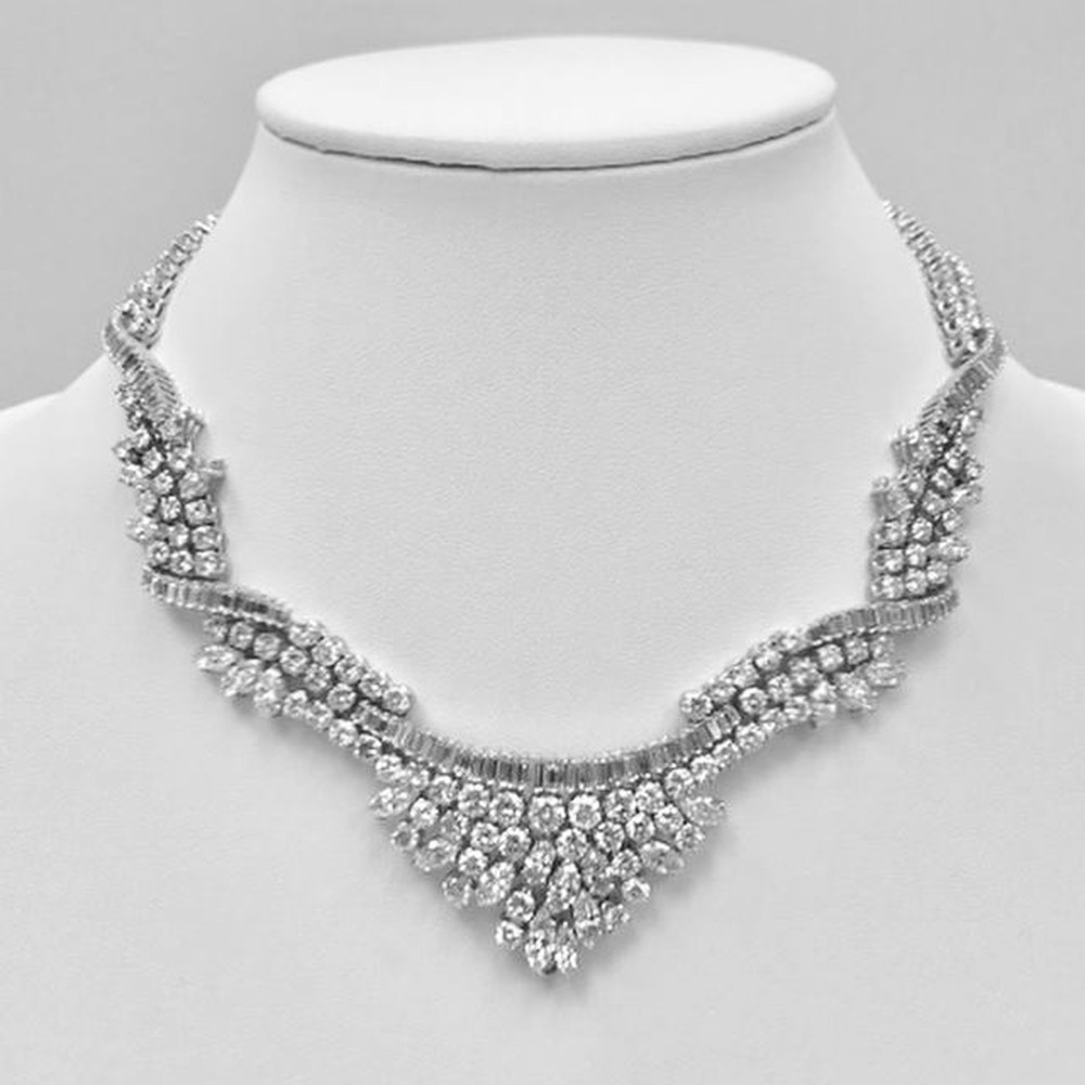 Couture Diamond V Shape Necklace