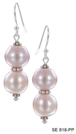Eternity Pink Pearl Earrings