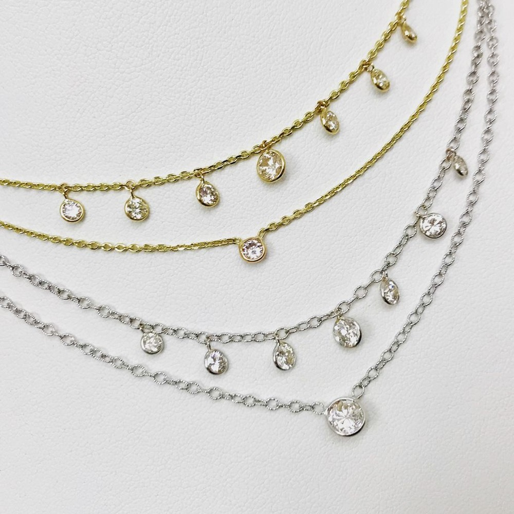 Dew Drops Diamond Necklace (Sold Separately)
