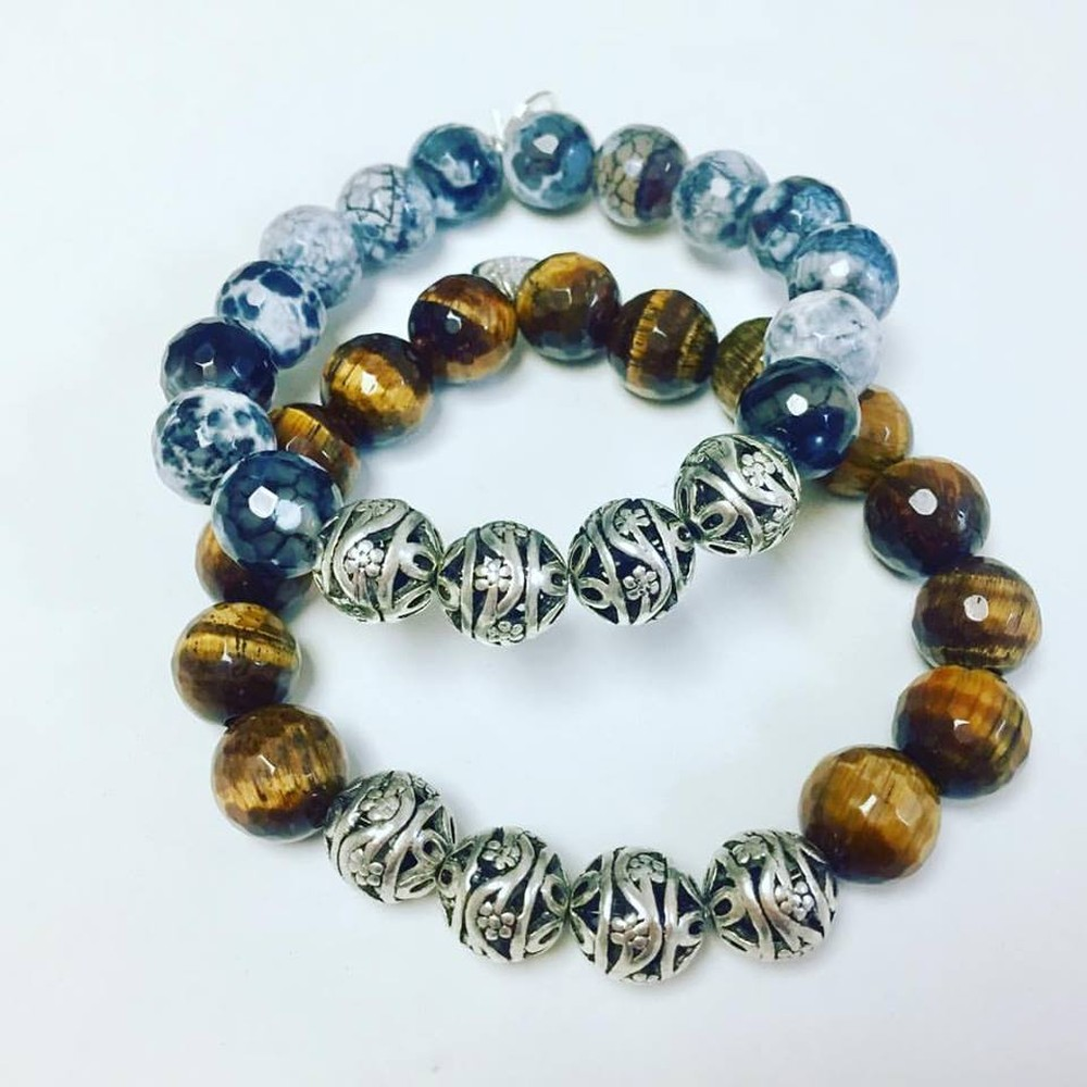 Men's Silver Bead Bracelet (Sold Separately)