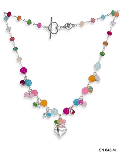 Carnival Cluster Heart Necklace