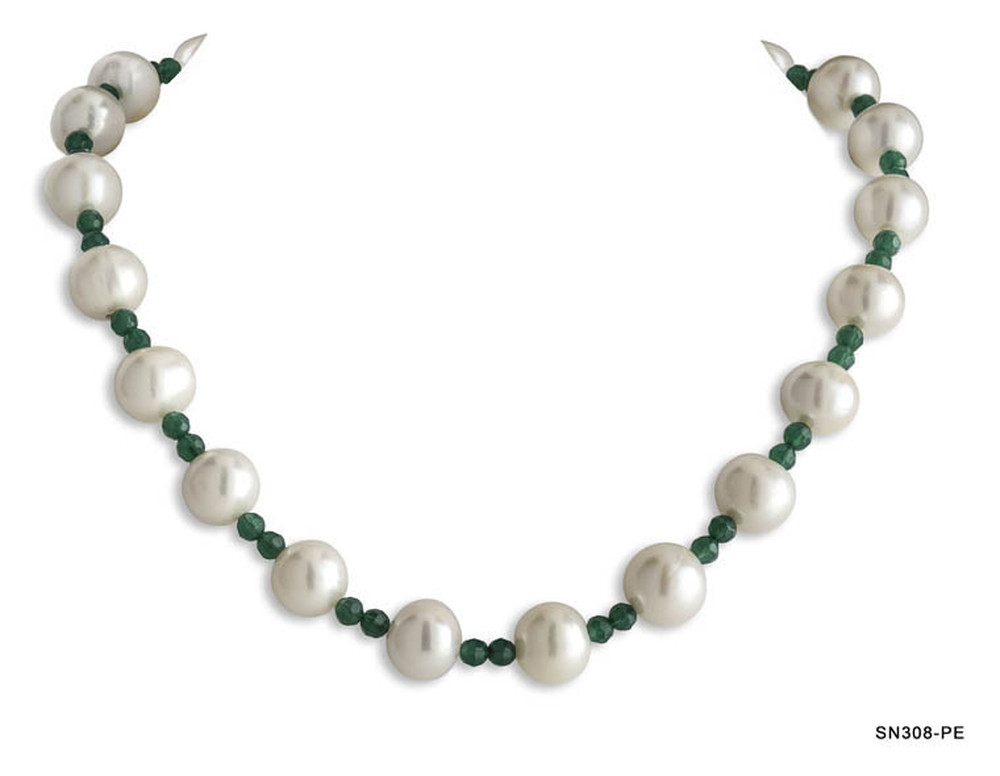Pearl and Emerald Necklace