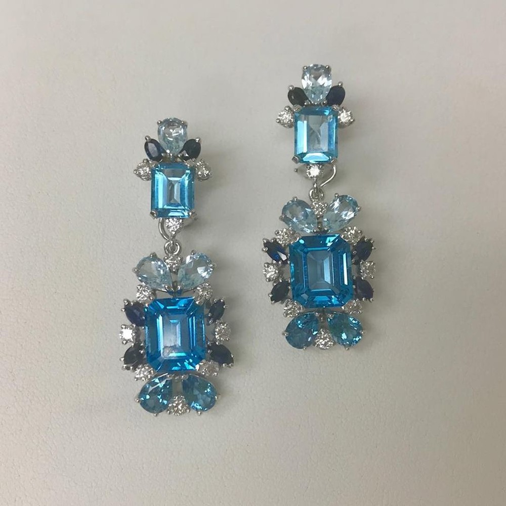 Shades of Blue Earrings
